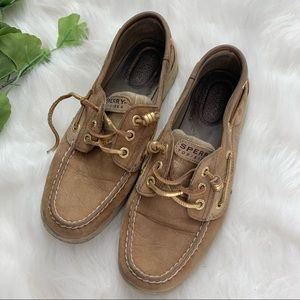 Sperry | Tan Leather Women's Top Sider Boat Shoes